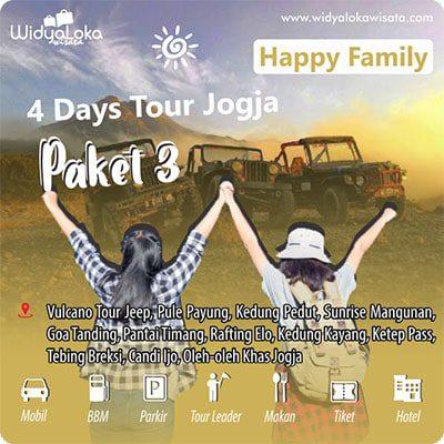 tour 4 hari jogja paket 3