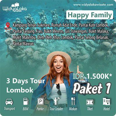 wisata lombok 3 hari paket 1